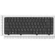 Клавиатура для ноутбука HP 530 черная