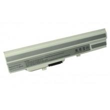 Аккумуляторная батарея для ноутбука MSI Wind U90, U100, RoverBook U135 6600mAh OEM белая