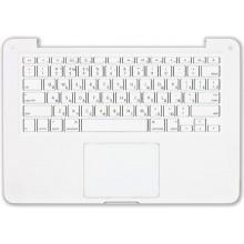 Клавиатура для ноутбука Apple A1342 топ-панель белая 13,3