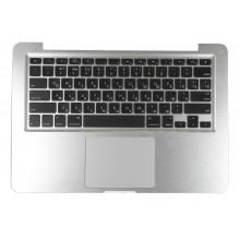 Клавиатура для ноутбука Apple A1278 топ-панель серебристая