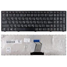 Клавиатура для ноутбука IBM Lenovo IdeaPad B570 B580 V570 Z570 Z575 B590 черная с черной рамкой
