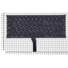 Клавиатура для ноутбука Apple A1369 2011+  черная с подсветкой, плоский ENTER