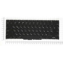 Клавиатура для ноутбука Apple A1370 2010+ черная плоский ENTER без подсветки