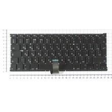 Клавиатура для ноутбука Apple A1369 2011+  черная с подсветкой, большой ENTER