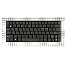 Клавиатура для ноутбука Asus EEE PC 1005HA 1008HA 1001HA 1001px черная с рамкой