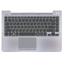 Клавиатура для ноутбука Samsung 535U4C NP535U4C 535U4C-S02 BA75-04038M черная топ-панель серый
