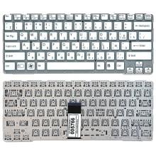 Клавиатура для ноутбука Sony SVE14A белая с голубым без рамки