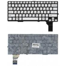 Клавиатура для ноутбука SONY SVS13 SVE13 серебристая с подсветкой