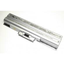 Аккумуляторная батарея VGP-BPS13 для ноутбука Sony Vaio VGN-AW, CS, FW 5200mAh серебристая OEM
