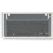 Клавиатура для ноутбука Samsung 355V4C-S01 BA75-04105C черная с серой рамкой