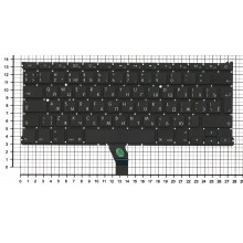 Клавиатура для ноутбука Apple A1369 2010+  черная, большой ENTER RU original