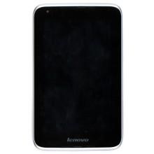 Модуль (матрица + тачскрин) Lenovo IdeaTab A1000 белый с рамкой