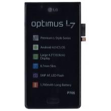 Модуль (матрица + тачскрин) LG Optimus L7 P705 с рамкой черный