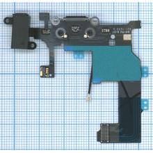 Шлейф аудио-разъема для Apple IPhone 5 черный