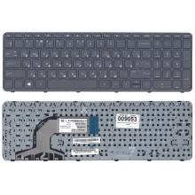 Клавиатура для ноутбука HP Pavilion 15 черная с черной рамкой