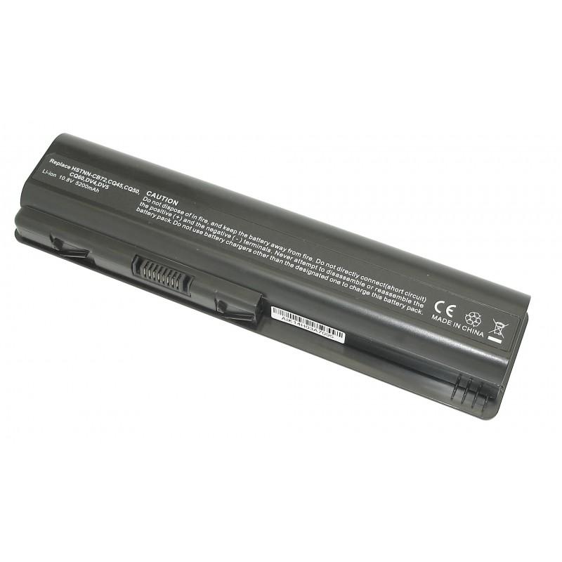 Аккумуляторная батарея HSTNN-CB72 для ноутбука HP Pavilion DV4, Compaq CQ40, CQ45 5200mAh OEM
