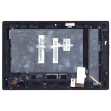 Модуль (матрица + тачскрин) Sony Xperia Tablet Z черный с рамкой
