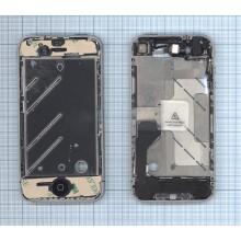 Средняя и боковая рамки в сборе для Apple IPhone 4G silver