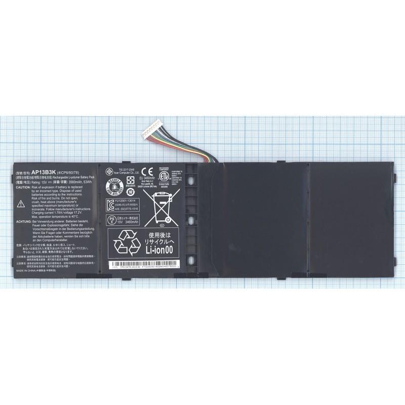 Аккумуляторная батарея AP13B3K для ноутбука Acer Aspire V7-482 3560mAh 53Wh ORIGINAL