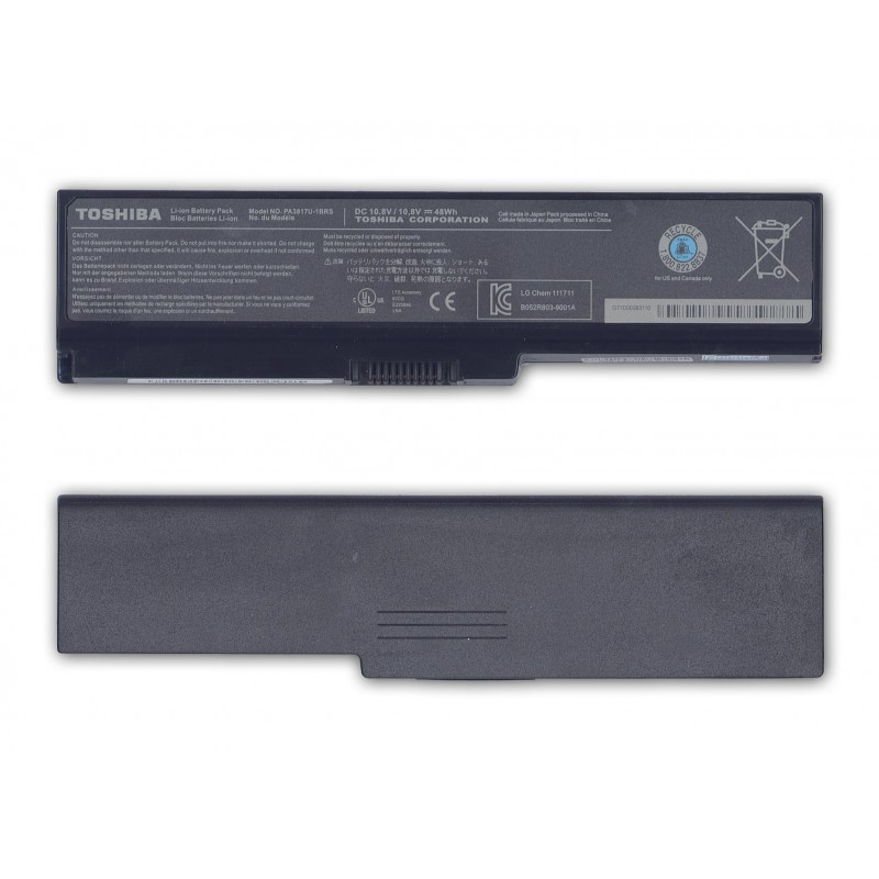 Аккумуляторная батарея PA3817U-1BRS для ноутбука Toshiba Satellite L750 11.1V 48Wh ORIGINAL черный