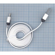 Плоский кабель Color USB-microUSB 1.0m USB-2.0 White (Белый)