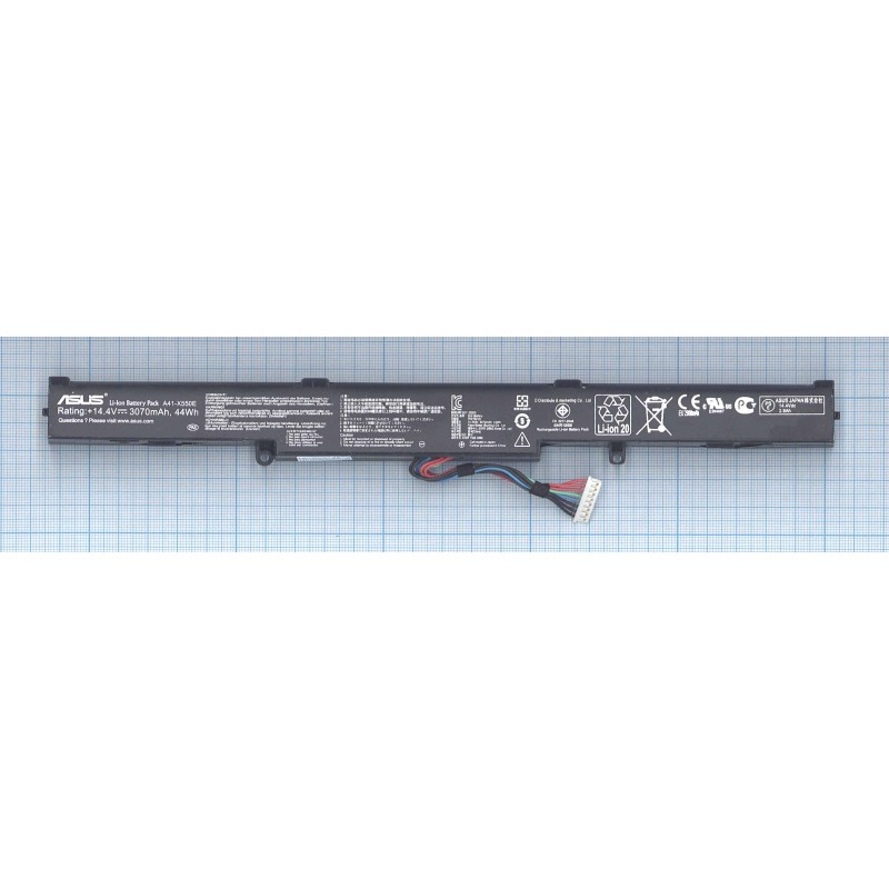Аккумуляторная батарея A41-X550E для ноутбука Asus X450J, X450JF 15V 44Wh черная ORIGINAL