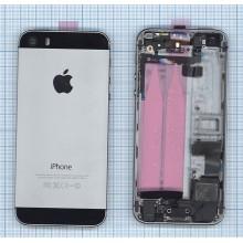 Задняя крышка (корпус) для Apple IPhone 5S с разъемами кнопками и шлейфами серая