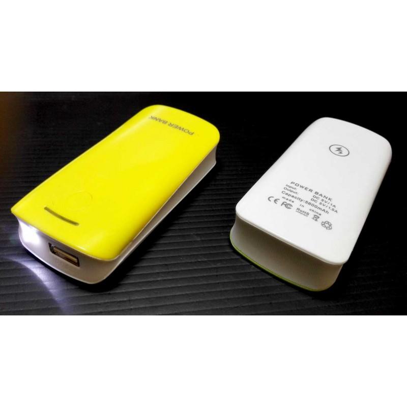 Стильный Универсальный внешний аккумулятор Power Bank для смартфонов 5600mAh 5.0V с фонариком