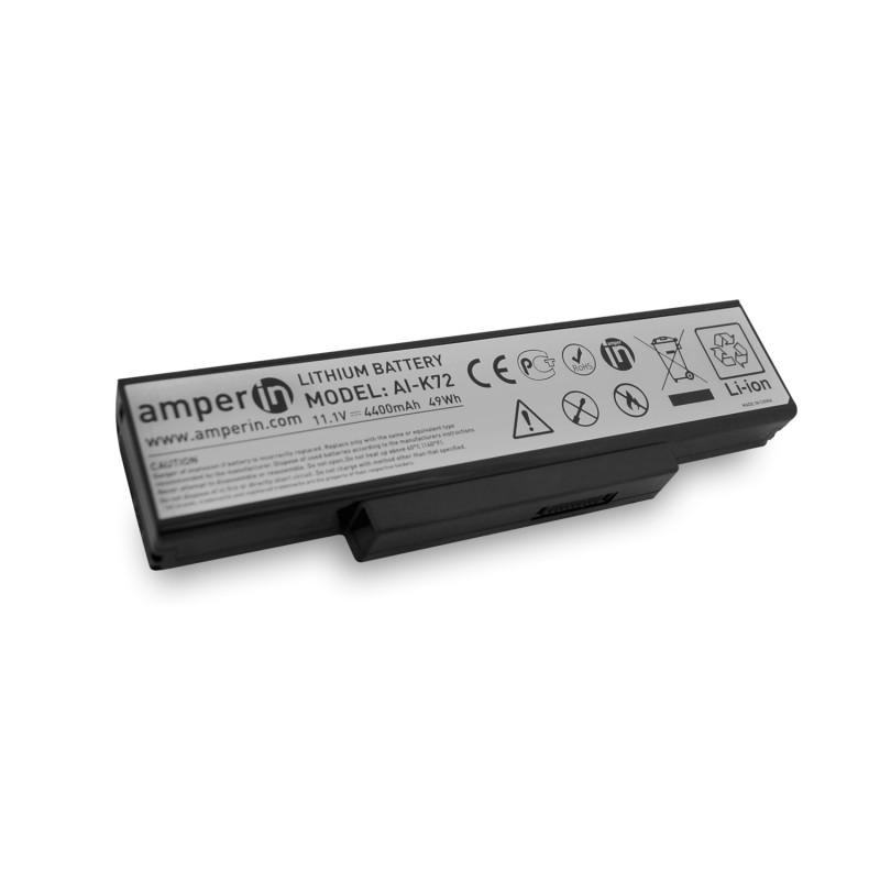 Аккумуляторная батарея AI-K72 для ноутбука Asus K Series 11.1v 4400mAh (49Wh) Amperin