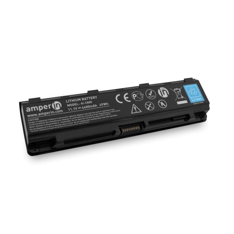 Аккумуляторная батарея AI-C800 для ноутбука Toshiba Satellite C800 11.1V 4400mAh (49Wh) Amperin