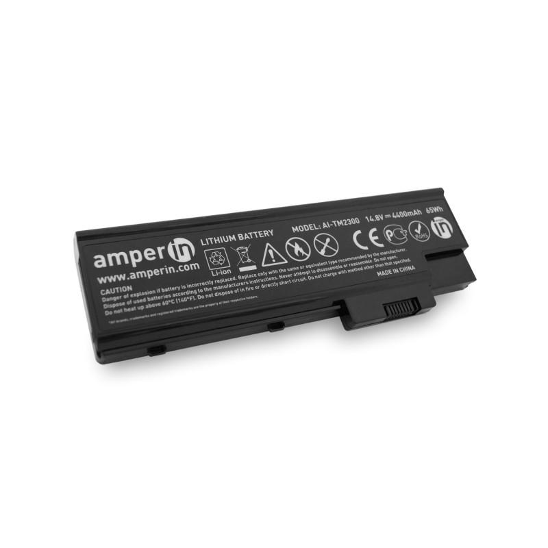 Аккумуляторная батарея AI-TM2300 для ноутбука Acer TravelMate 2300 14.8V 4400mAh (65Wh) Amperin