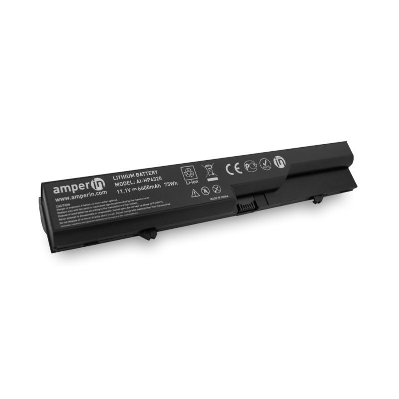 Аккумуляторная батарея AI-HP4320H для ноутбука HP ProBook 4320S 11.1V 6600mAh (73Wh) Amperin