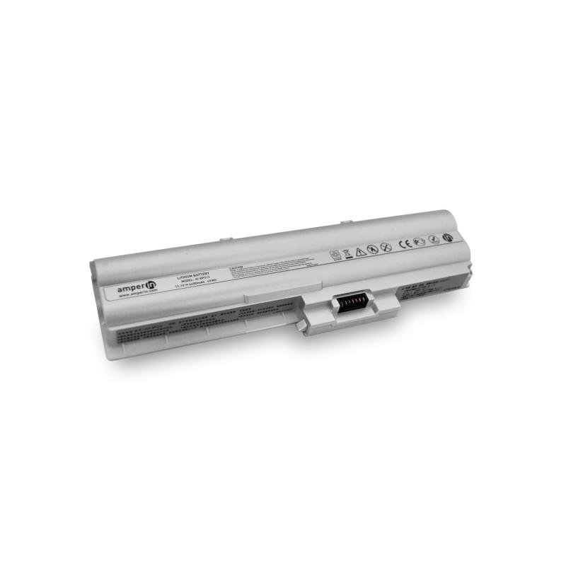 Аккумуляторная батарея AI-BPS12 для ноутбука Sony Vaio VGN-Z 11.1V 4400mAh (49Wh) Amperin Silver