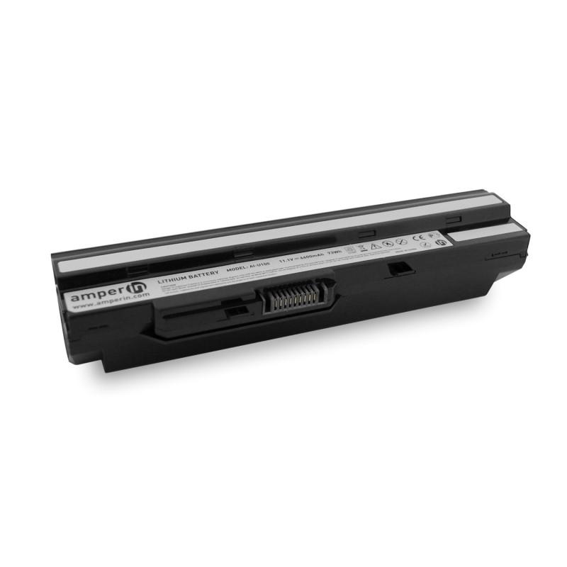Аккумуляторная батарея AI-U100 для ноутбука MSI Wind U100 11.1V 6600mAh (73Wh) Amperin