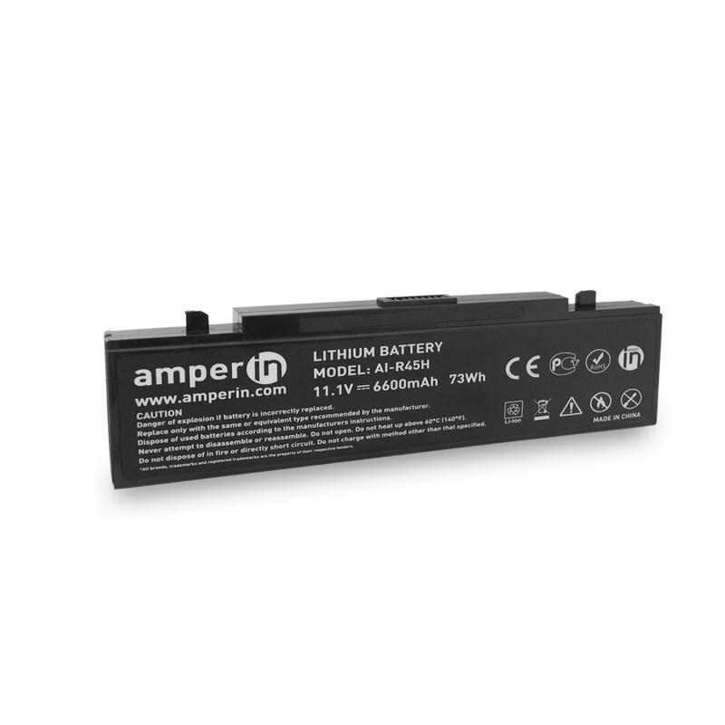 Аккумуляторная батарея AI-R45H для ноутбука Samsung NP, X, R, P, M 11.1V 6600mAh (73Wh) Amperin