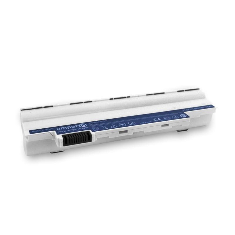 Аккумуляторная батарея AI-D255W для ноутбука Acer Aspire One D255 11.1V 4400mAh (49Wh) White Amperin