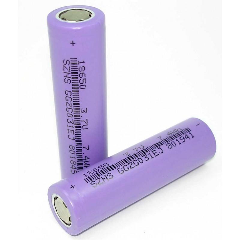Аккумулятор типа 18650 2000mAh 3.7V 7.4Wh SZNS