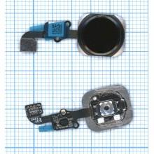 Кнопка HOME в сборе с механизмом и шлейфом для Apple iPhone 6 черная