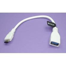 Кабель AI-TCOTGW для зарядки и синхронизации Type C на USB 3.0 AF (OTG) белый