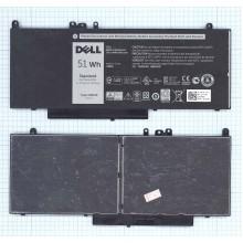 Аккумуляторная батарея 8V5GX, G5M10 для ноутбука Dell Latitude E5550 7.4V 51Wh ORIGINAL черный