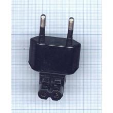 Адаптер-переходник Europlug (Евровилка) для блоков питания Samsung