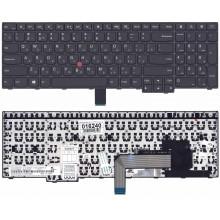 Клавиатура для ноутбука IBM Lenovo Thinkpad E550 E550C E555 E560 E565 черная с подсветкой