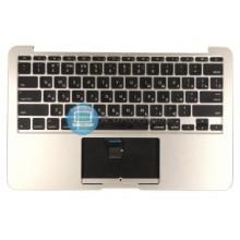 Клавиатура для ноутбука Apple A1370 2011+ черная с подсветкой плоский ENTER топ-панель