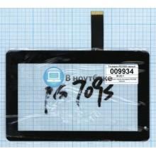 Сенсорное стекло (тачскрин) PG709S черный