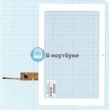 Сенсорное стекло (тачскрин) TOPSUN_F0036_A2 white