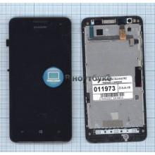 Модуль (матрица + тачскрин) Huawei Ascend W2 черный с рамкой
