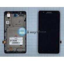 Модуль (матрица + тачскрин) Lenovo A536 черный с рамкой