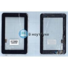Сенсорное стекло (тачскрин) HLD-PG708S черный с рамкой