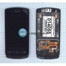 Модуль (матрица+тачскрин) Nokia Lumia 700 черный с рамкой