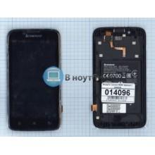 Модуль (матрица + тачскрин) Lenovo A328 черный с рамкой